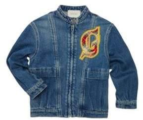 Gucci Little Girl's& Girl's Zip-Up Cotton Denim Jacket