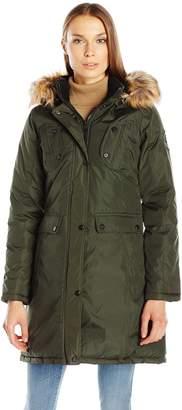 Madden-Girl Women's Multi Pocket Insulated Coat