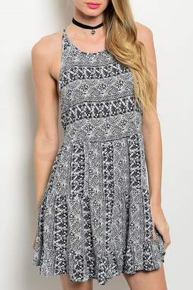 Adore Clothes & More Navy/white Summer Dress