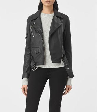Harland Leather Biker Jacket $595 thestylecure.com
