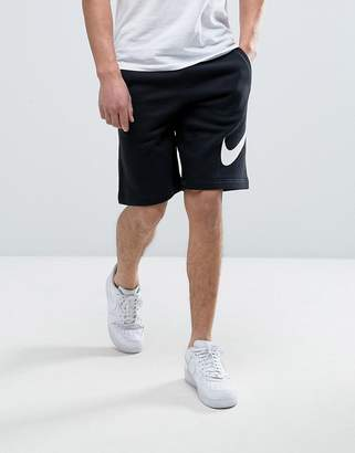 Nike Jersey Shorts With Large Logo In Black 843520-010