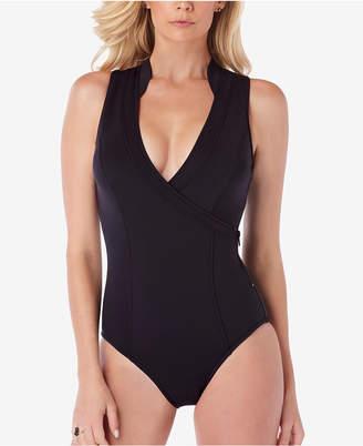 Magicsuit Slimming Wrap-Front Open-Back One-Piece Swimsuit Women's Swimsuit