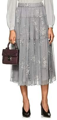 Co Women's Floral Silk Maxi Skirt