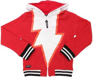 Arrow Print Hooded Cotton Sweatshirt