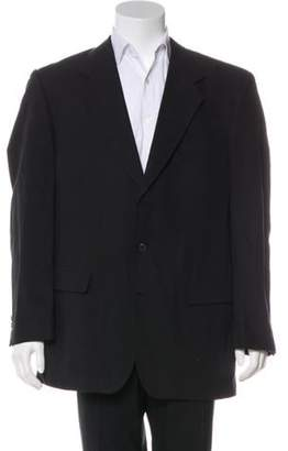 Hardy Amies Woven Three-Button Blazer black Woven Three-Button Blazer