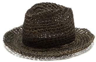 Reinhard Plank Hats - Francesco Straw Fedora Hat - Womens - Black