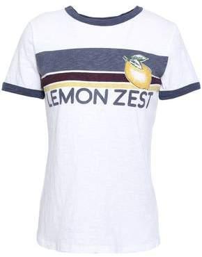 BA&SH Blind Printed Slub Cotton-jersey T-shirt