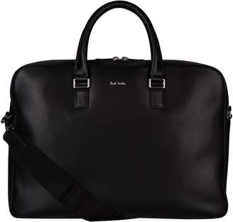 Paul Smith Leather Double Folio Briefcase