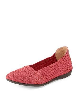Taryn Rose Belicia Stretch-Woven Flat, Red $135 thestylecure.com
