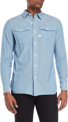 G Star Raw Bleached Landoh Army Shirt