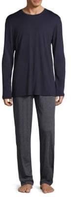 Hanro Two-Piece Night& Day Long-Sleeve Pajama Set