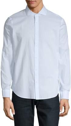 Black Brown 1826 Striped Cotton Button-Down Shirt