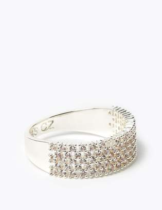 Marks and Spencer Silver Plated Sparkle Band Ring