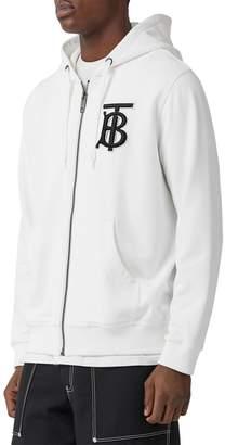 Burberry Embroidered Zip-up Sweatshirt Hoodie