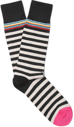 Paul Smith Striped Cotton-Blend Socks $30 thestylecure.com