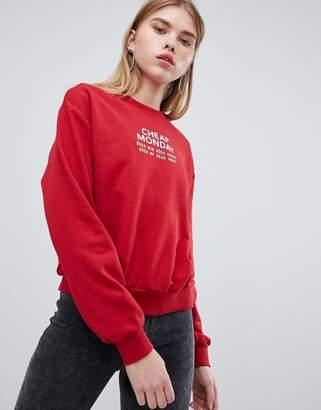 Cheap Monday chest logo sweatshirt