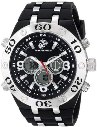 Wrist Armor Men's 37100007 C23 Analog-Digital Display Quartz Watch with Rubber Strap