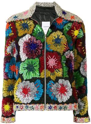 Ashish floral patch jacket