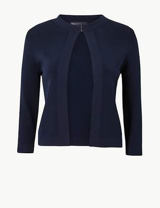 Marks and Spencer Round Neck 3/4 Sleeve Cardigan