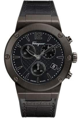 Salvatore Ferragamo Men's 44mm F-80 Leather Watch