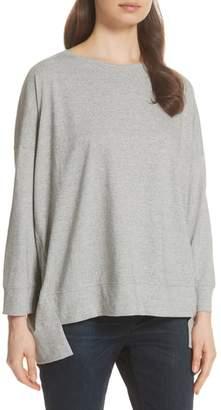 Eileen Fisher High/Low Cotton Sweatshirt