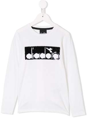 Diadora Junior sequin logo T-shirt