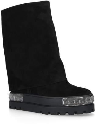 Casadei Suede Chaucer Platform Boots