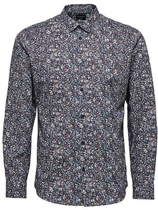 Selected Slim-Fit Printed Cotton Sport Shirt