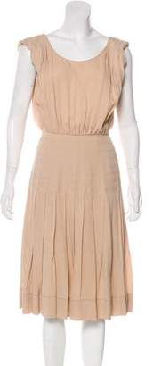 Rochas Silk Pleated Dress