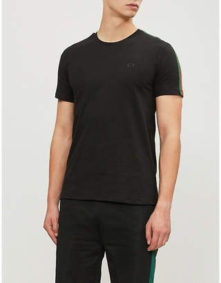 Criminal Damage Cuccio side-strip cotton-jersey T-shirt