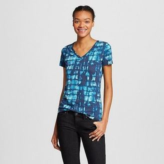 Women's Patterned Boyfriend's V-Neck Tee - Mossimo Supply Co. (Juniors') $9 thestylecure.com