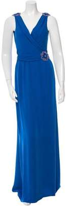 Collette Dinnigan Silk Beaded Maxi Dress w/ Tags