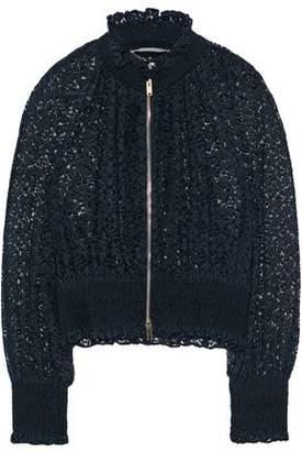 Stella McCartney Shirred Cotton-Blend Lace Jacket