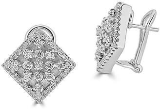 Saks Fifth Avenue Women's Diamond and 14K White Gold Square Fashion Earrings