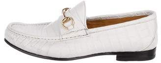 Gucci Crocodile Horsebit Loafers