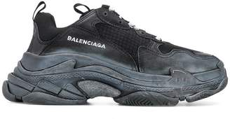 Balenciaga lace-up logo sneakers