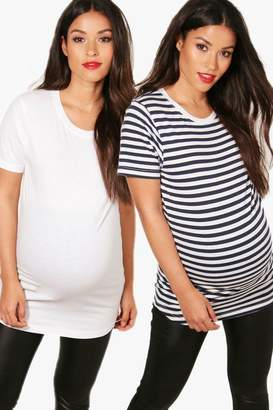 boohoo Maternity 2 Pack Oversized T-Shirt