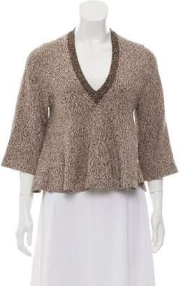 Apiece Apart V-Neck Flare Sweater