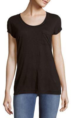 Solid Scoopneck T-Shirt $39.50 thestylecure.com