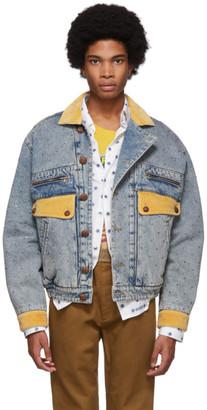 Gucci Blue Denim Rhinestone Jacket
