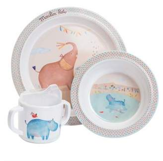 Moulin Roty Childrens Melamine Dinner Gift Set - In The Jungle | Baby Gifts