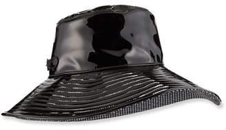 Eric Javits Patent Faux-Leather Rain Hat