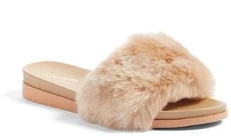 Seychelles Beyond Reason Faux Fur Slide Sandal