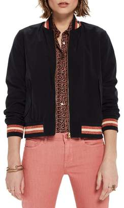 Scotch & Soda Stripe Trim Bomber Jacket