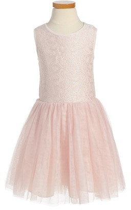 Toddler Girl's Pippa & Julie Sparkle Lace Birthday Dress $48 thestylecure.com