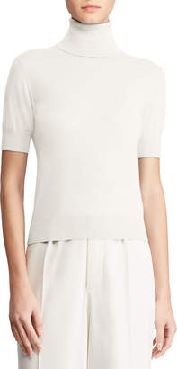 Ralph Lauren Cashmere Short-Sleeve Turtleneck Sweater