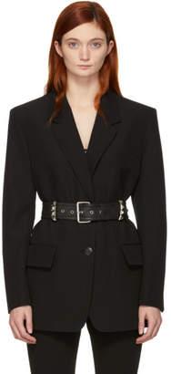 Alexander Wang Black Studded Belt Blazer