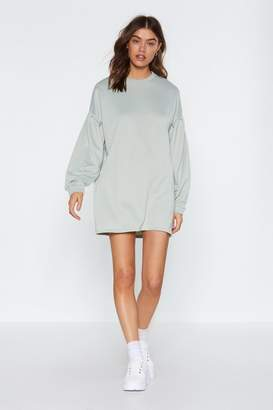 Nasty Gal Don't Sweat It Sweatshirt Dress