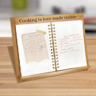 Monogram Online Cooking Is Love Made Visible Custom Bamboo Book or iPad Stand