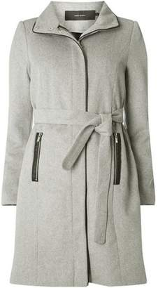 Dorothy Perkins Womens **Vero Moda Grey Wool 3/4 Length Belted Coat